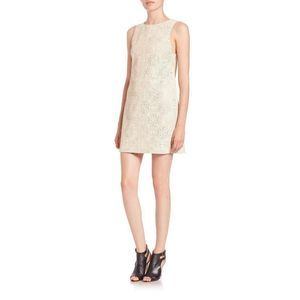 Alice + Olivia Clyde Lasercut Leather Shift Dress